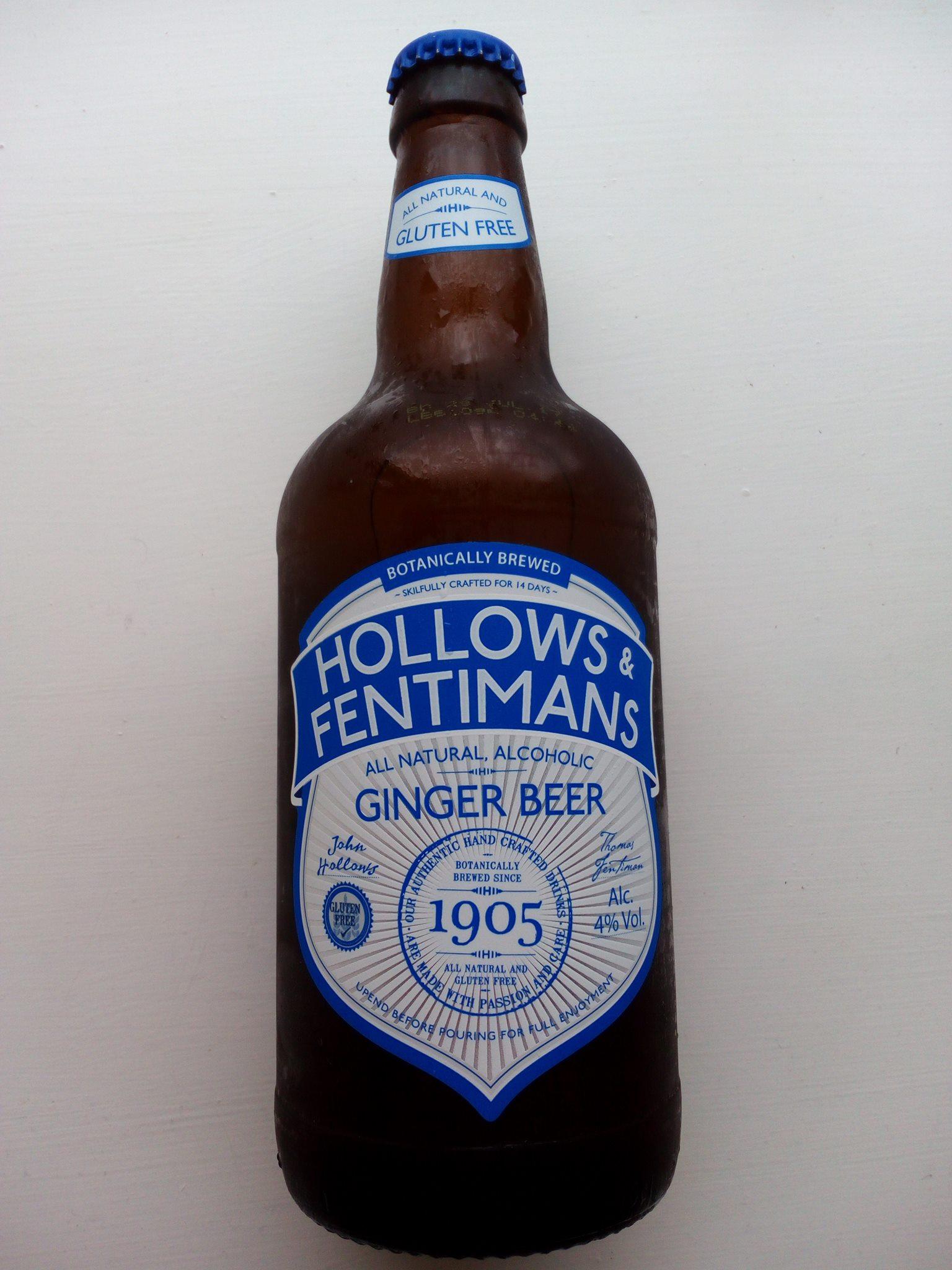 Hollows & Fentiman's Alcoholic Ginger Beer