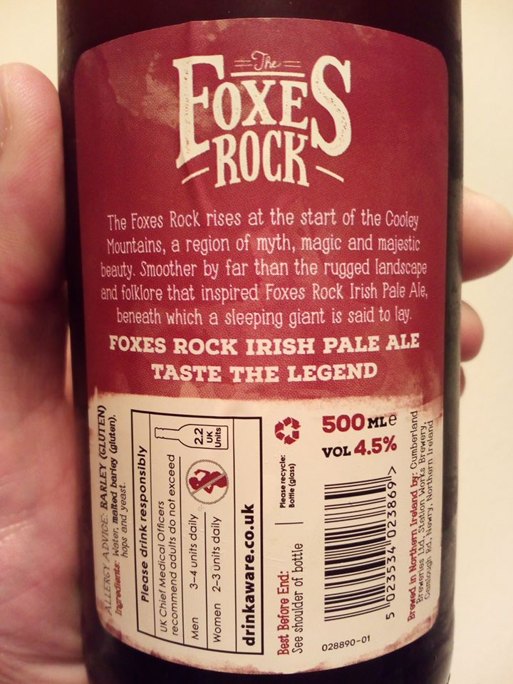 The Foxes Rock Irish Pale Ale